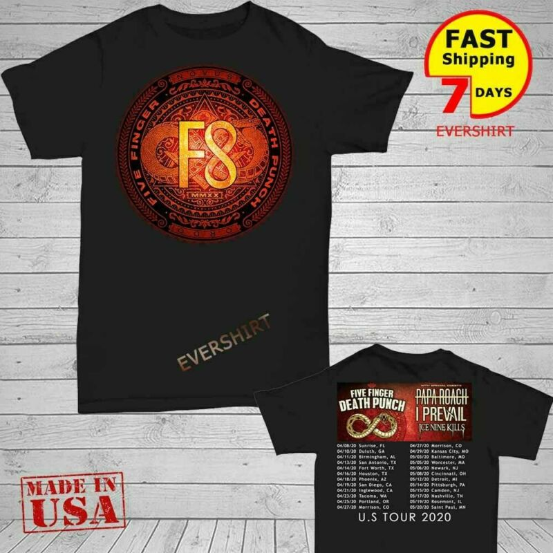 Five Fing3r Death Punch Shirt U.S tour dates 2020 T-Shirt S-5XL
