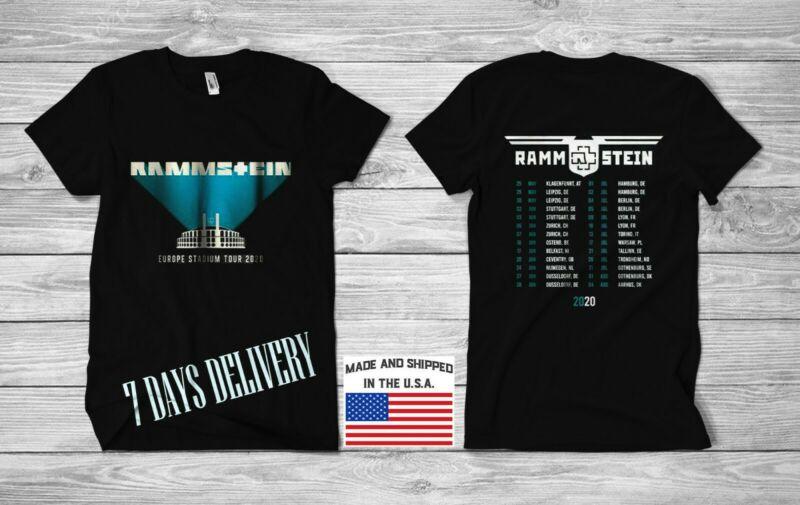 Rammstein Europe Stadium Tour Dates 2020 - Men T-Shirt ...USA SIZE S-5XL