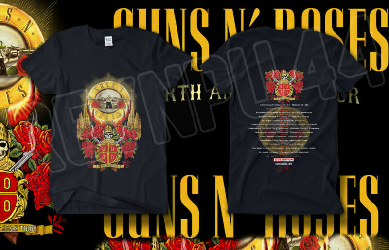 #GNR uns N Roses Europe x South America Tour Shirt Concert 2020 GILDAN T-SHIRT