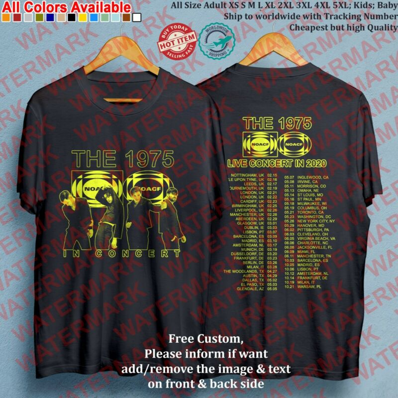 THE 1975 band TOUR 2020 Concert Album T-Shirt Adult S-5XL Youth Infants