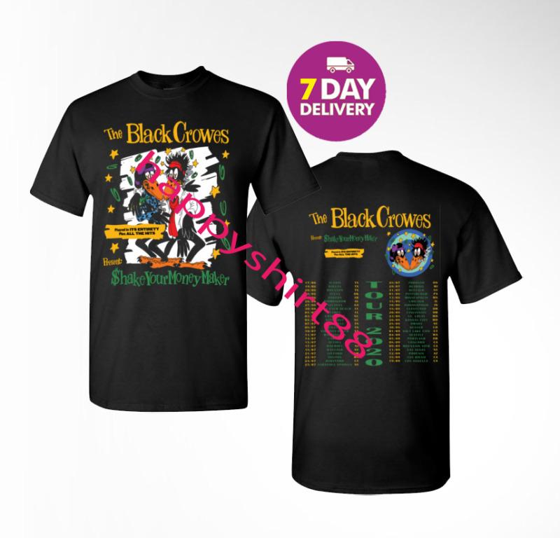 New The Black Crowes 30th anniversary tour 2020 Men Black T-Shirt Size S-3XL.