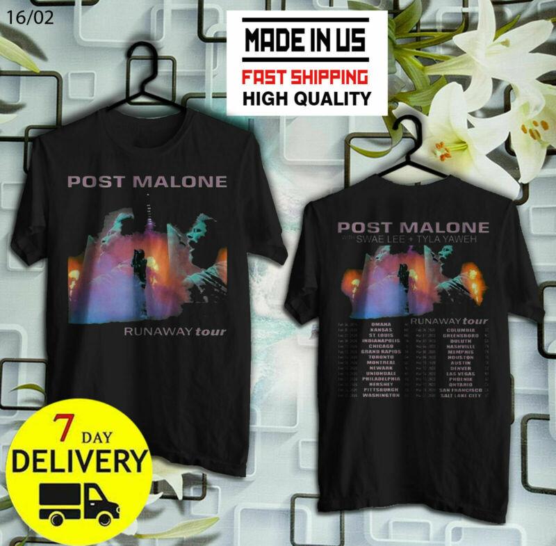 POST MALONE Runaway Tour 2020 T-Shirt Size S-5XL