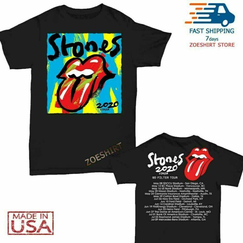 NEW GILDAN The Rolling Stones t Shirt No Filter Tour 2020 T-Shirt S~XXL