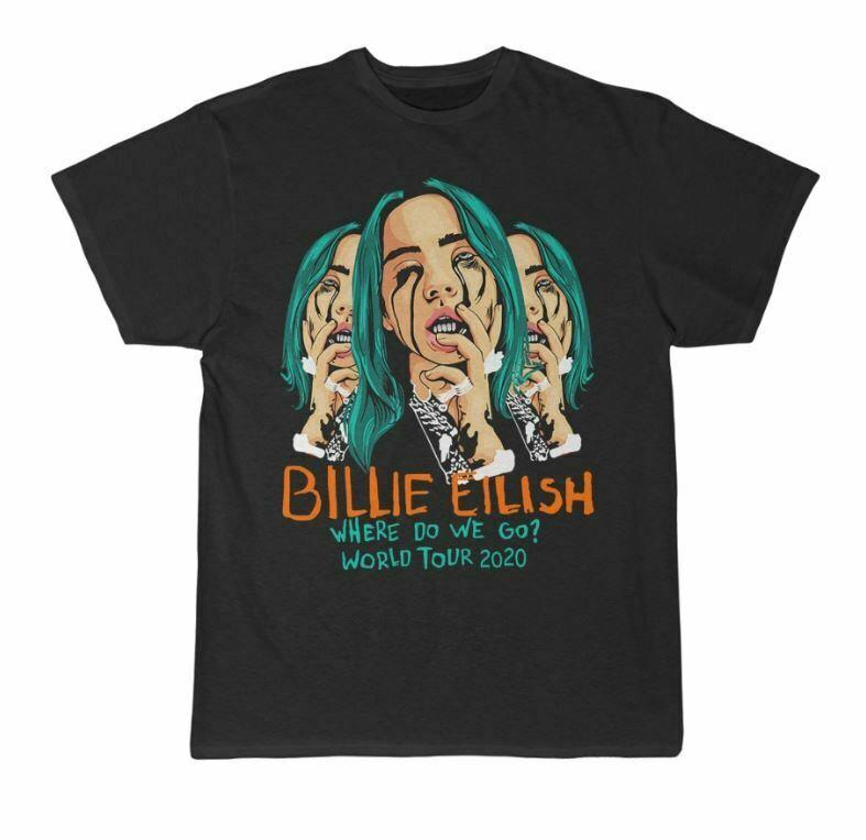 Billie Eilish Where Do We Go World Tour 2020 T-Shirt 100% cotton