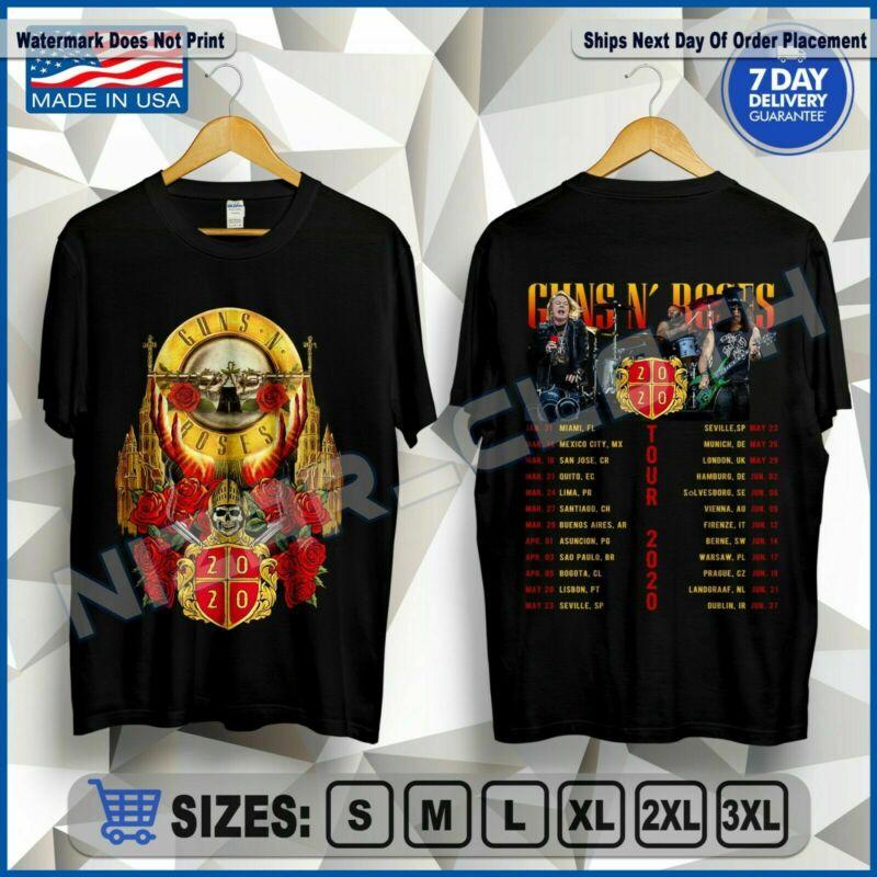 Guns N Roses T-Shirt Tour 2020 US Size M-2XL