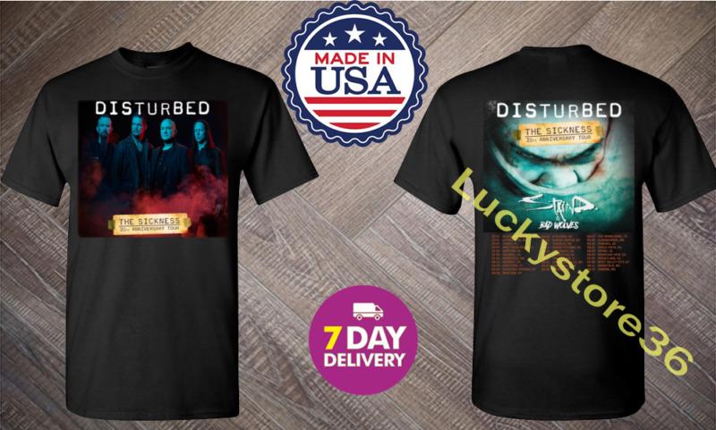 New Shirt Disturbed Evolution Tour Dates 2020 T shirt S-3XL MENS