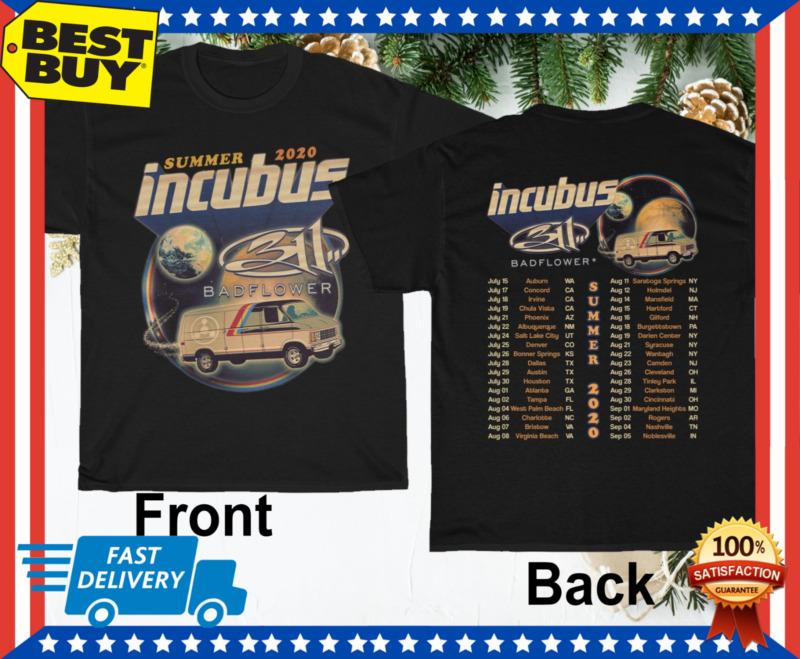 Incubus with 311 Badflower Tour 2020 Dates T-Shirt Regular Size M-3XL