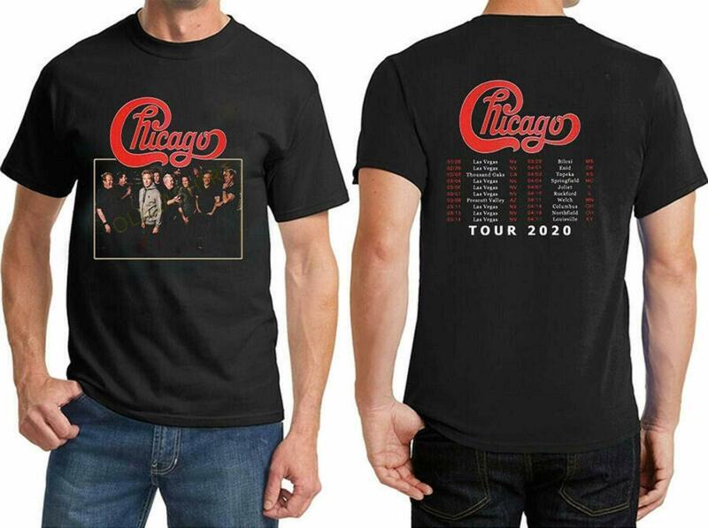 Popular Chicago 2020 Tour Rock Music Casual T-Shirt