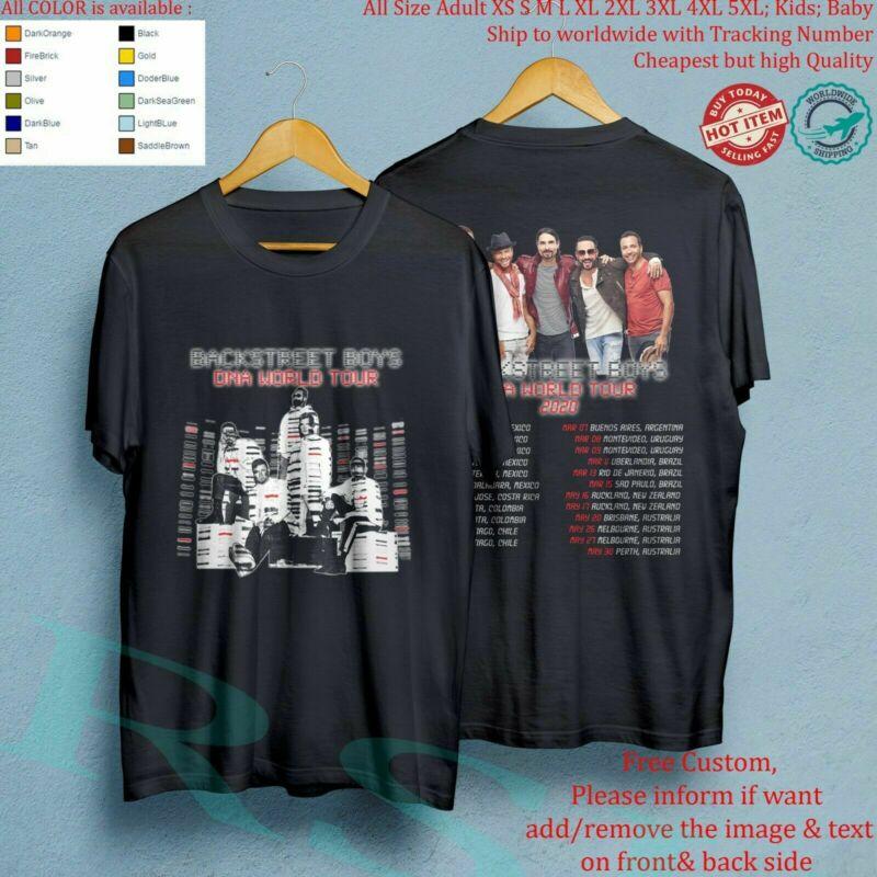 BSB BACKSTREET B0YS DNA WORLD TOUR 2020 Album T-Shirt USA