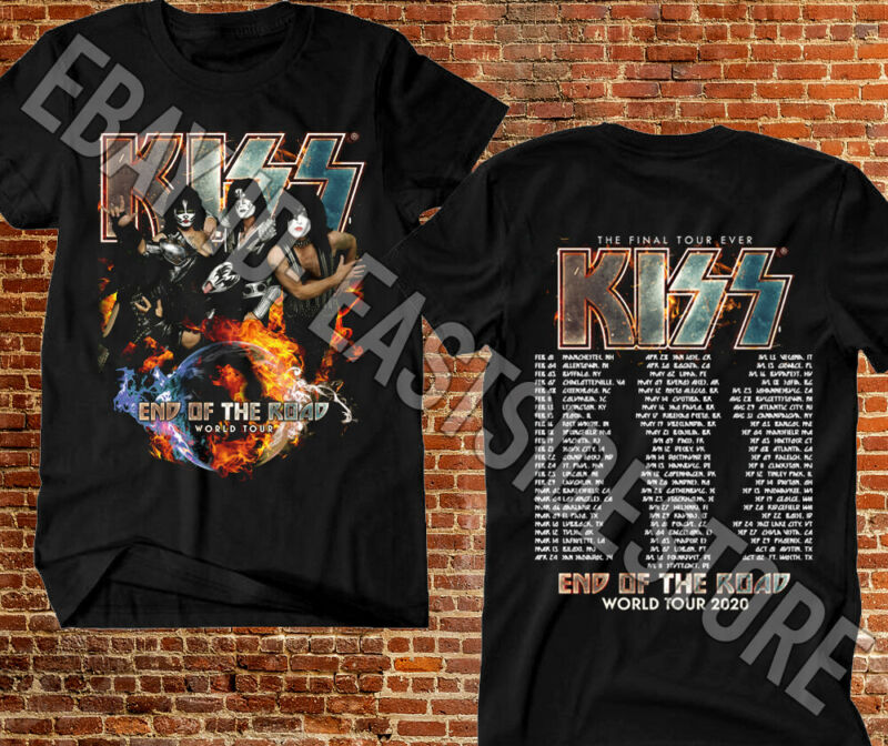 KISS T-shirt End Of The Road World Tour 2020 Leg 5 - 8 Complete Date MusicTee #2
