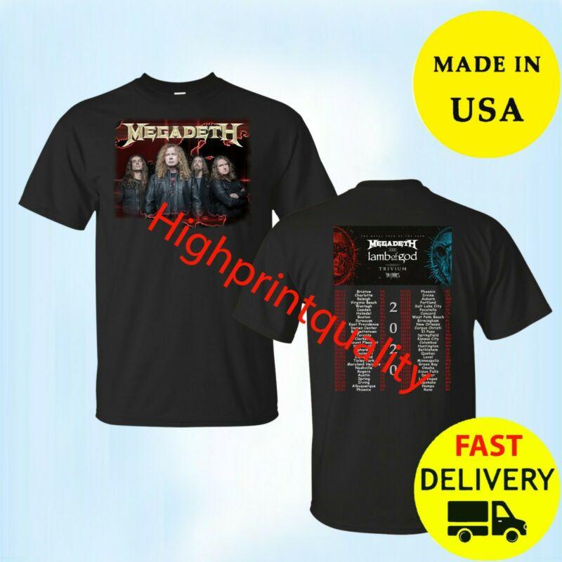 Megadeth Shirt The Metal Tour Of The Year 2020 T-Shirt Black Size M-3XL