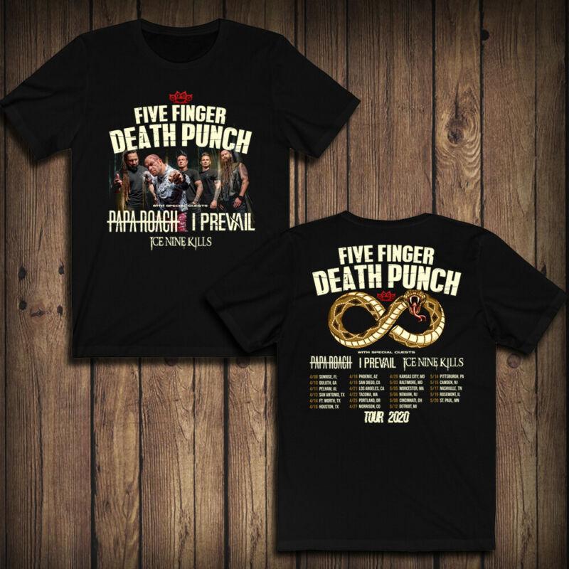 Five Finger Death Punch  Papa Roach  I Prevail  Ice Nine Kills TOUR 2020 T-SHIRT /Five-Finger-Death-Punch-Papa-Roach-I-Prevail-293418256566.html