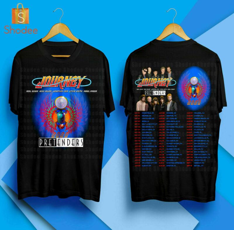 Journey & Pretenders North American Tour 2020 Merch Concert Black T Shirt