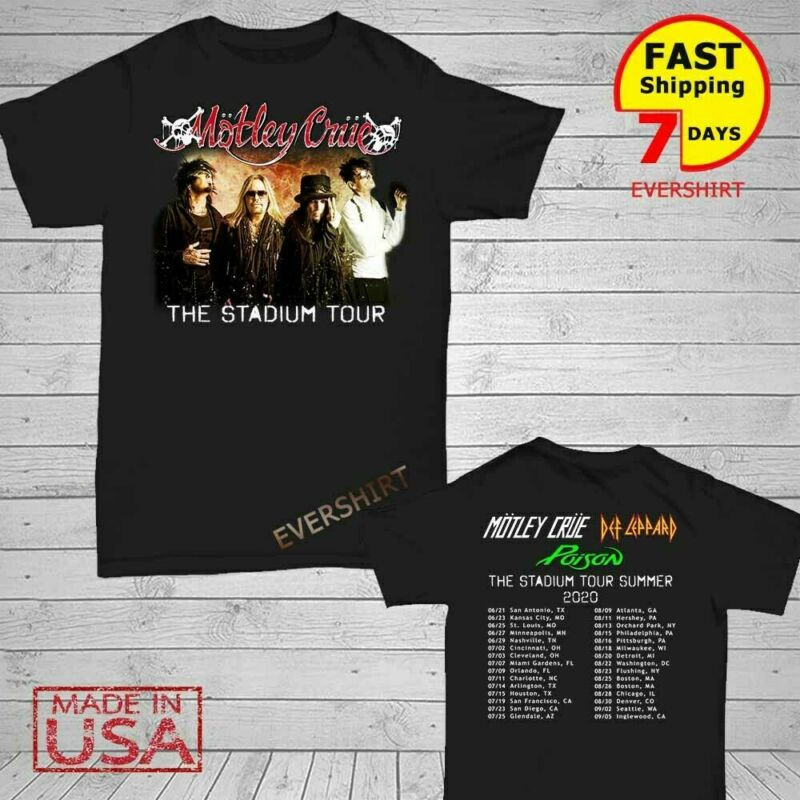 Motley Cru3 Shirt The Stadium Tour 2020 T-Shirt S-5XL