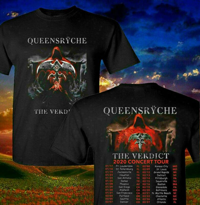 Rare Queensryche 2020 The Verdict Music Concert Tour T-Shirt