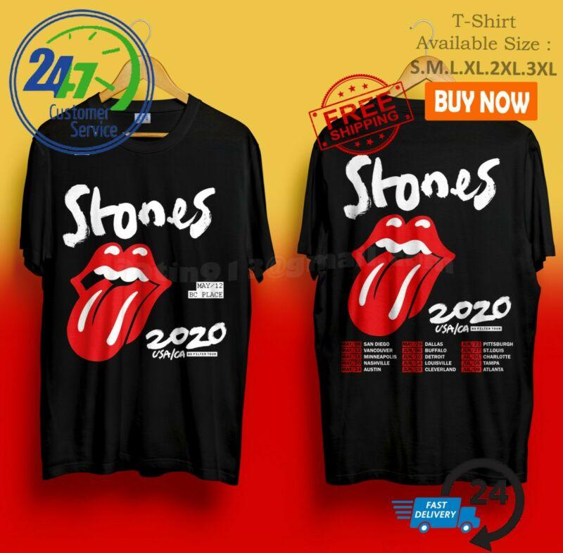 The Rolling Stones USA/CA No Filter Tour 2020 Concert T-Shirt Black Size S-4XL