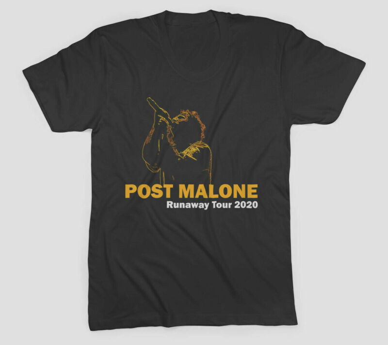 New POST MALONE Runaway Tour 2020 2nd Leg T-shirt full size black
