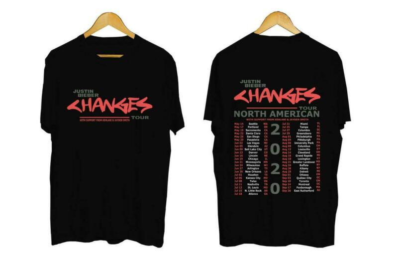Justin Bieber Changes Tour 2020 North America - T-shirt