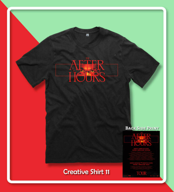 New The Weeknd THE AFTER HOURS TOUR 2020 R&B T-Shirt Gildan S-2XL 2Side Print