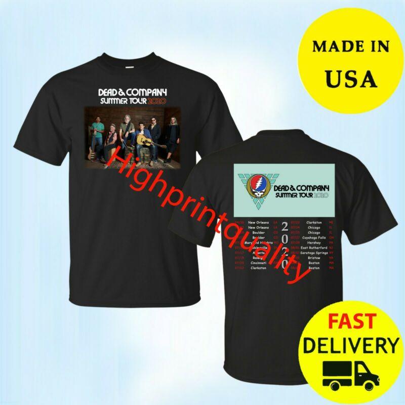 Dead and Company Shirt Tour Dates 2020 T-Shirt Black Mens Size M-3XL