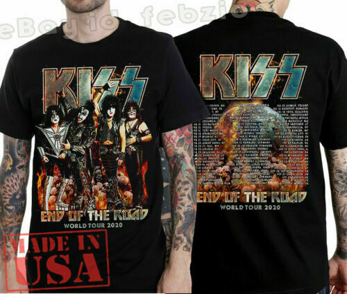 New KISS - End Of The Road World Tour 2020 T-shirt full size black