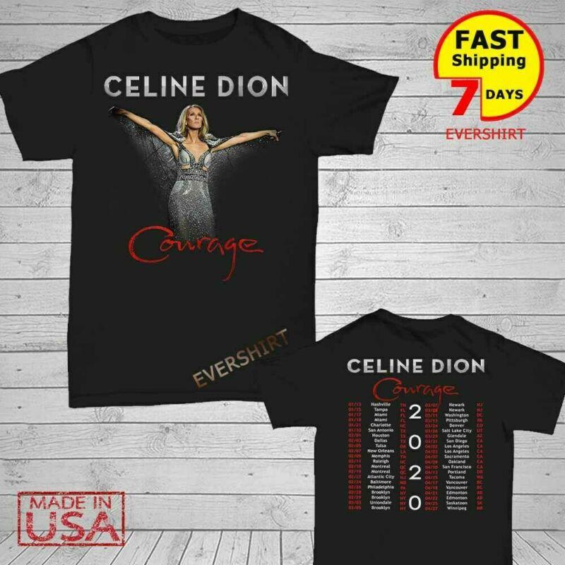 Celine Di0n-Shirt Courage World Tour 2020 T-Shirt S-5XL
