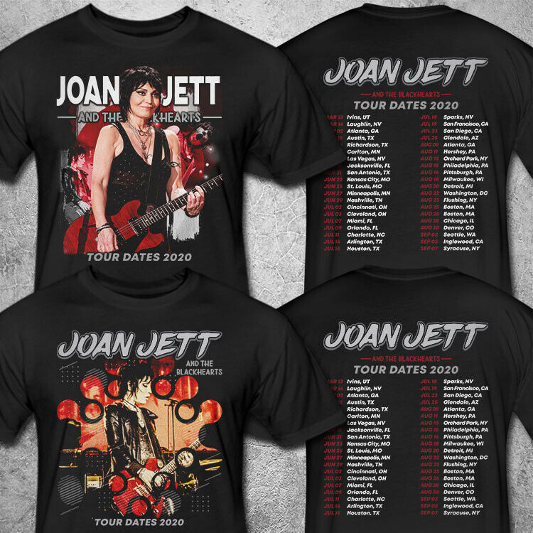 Joan Jett & The Blackhearts Tour Dates 2020 T shirt S-3XL MENS