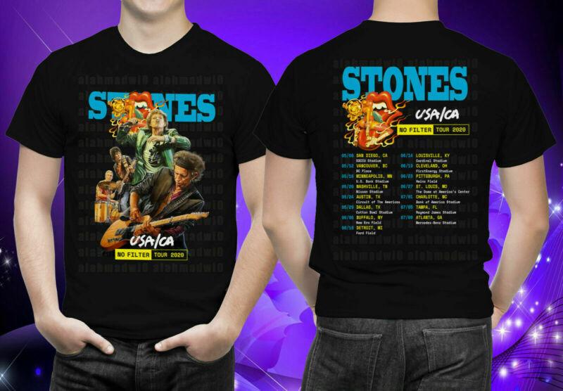 NEW Rolling St0nes USA - CA No Filter Tour 2020 Black T-shirt S-5XL