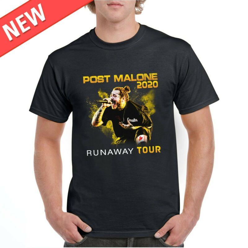 Post Runaway Tour 2020 Malone Hiphop T-Shirt Malone Rapper Black