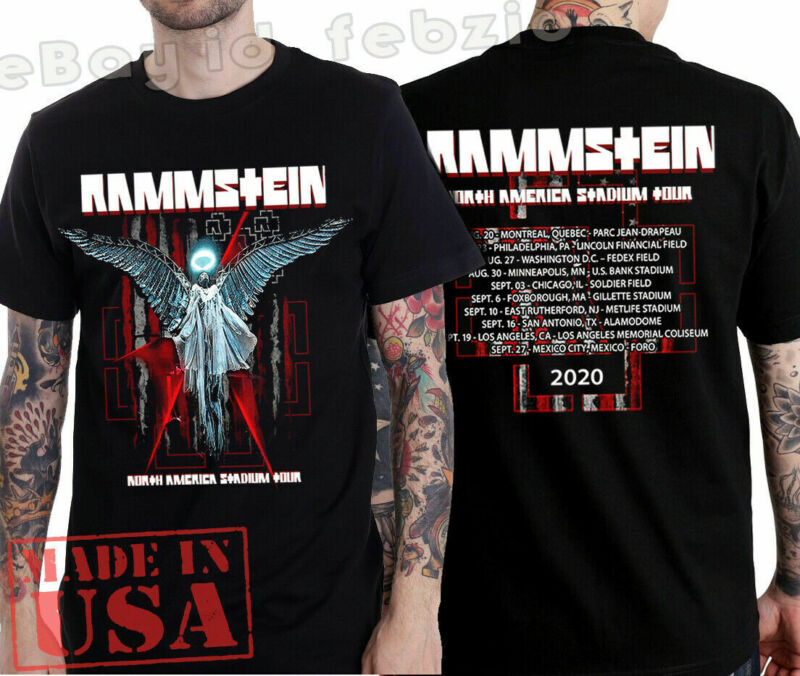 Rammstein T-shirt North America Stadium Tour 2020 Rock Industrial Music tee !