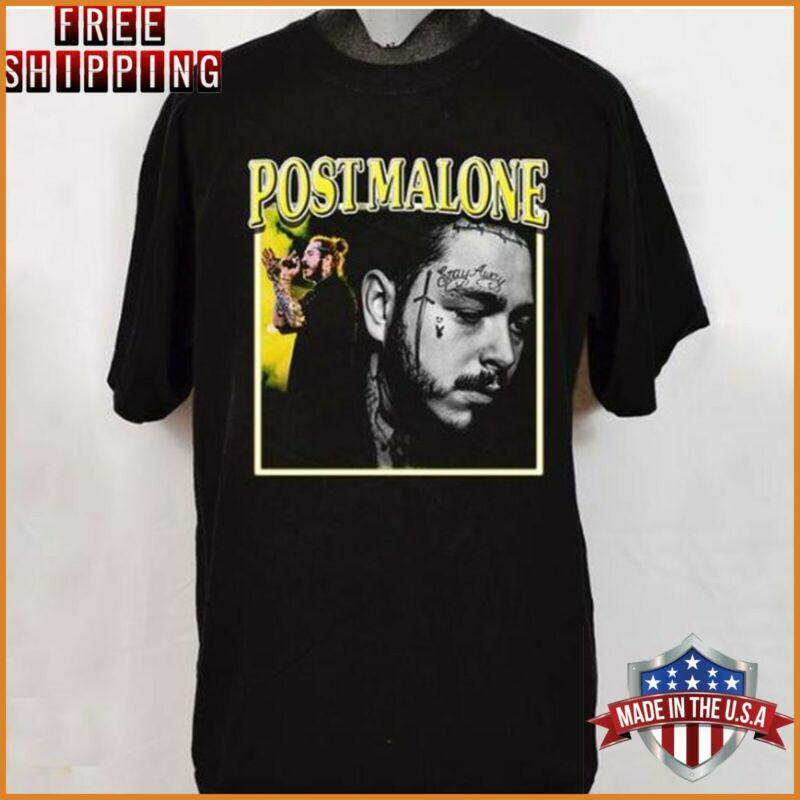 Post Malone T-Shirt Runaway Tour 2020 Black Cotton Unisex Tee Shirt Full size