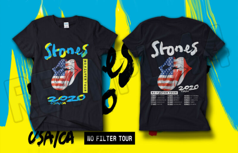 DC The Rolling Stones - NO FILTER Tour Shirt USA/CA Concert 2020 GILDAN T-SHIRT