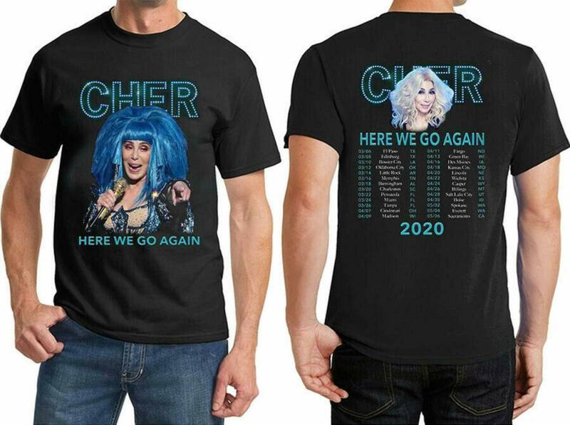 Cher Here We Go Again 2020 Singer Tour Music T-Shirt