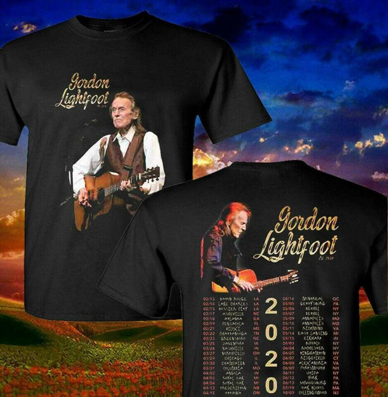 Gordon Lightfoot 2020 Music Concert Tour T-Shirt