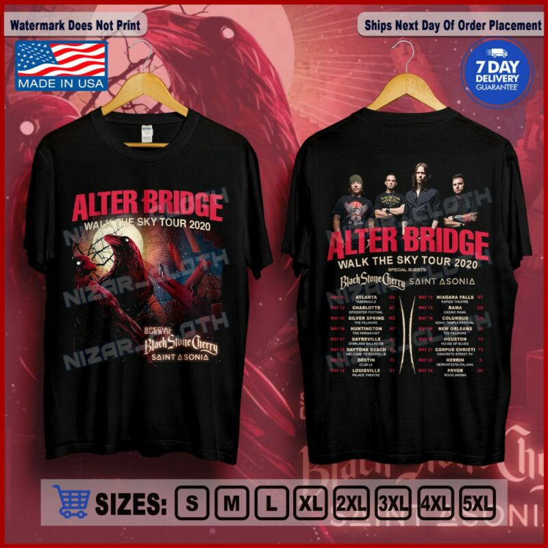 Alter Bridge Walk The Sky Tour 2020 Ft Black Stone Cherry & Saint Asonia T-Shirt