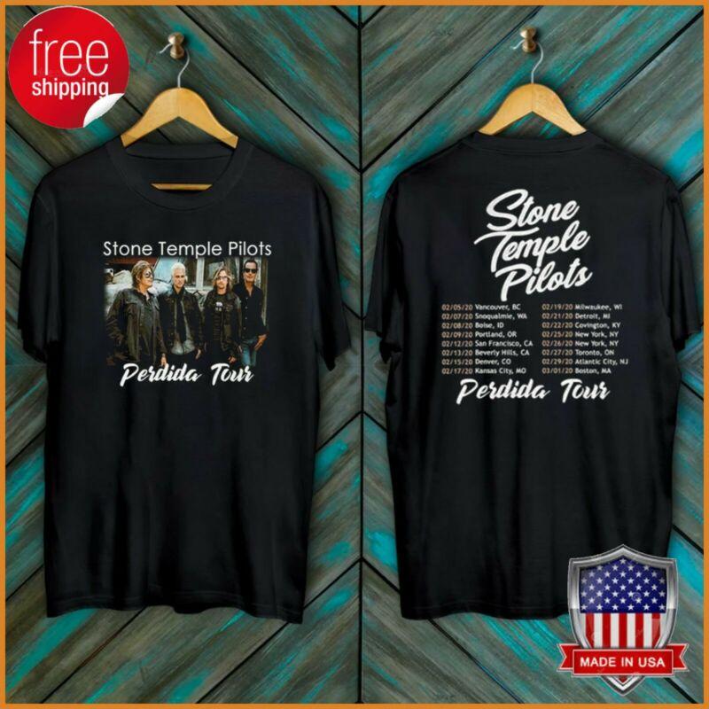 FREESHIP Stone Temple Pilots Perdida tour dates 2020 T-Shirt Black Tee S-6XL NEW