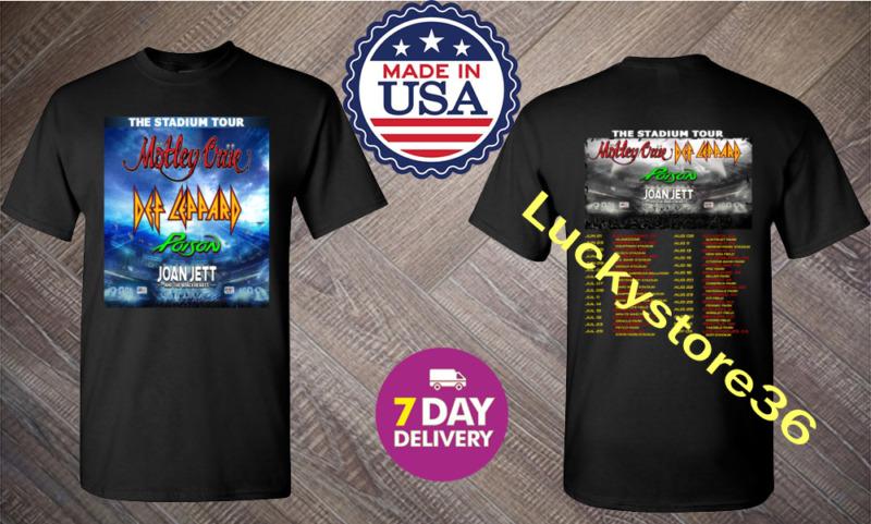 Motley Crue t Shirt The Stadium Tour 2020 T-Shirt Size Men Black