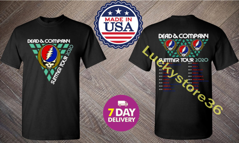 New Shirt Dead And & Company Summer tour 2020 Black Gidan T Shirt 2 Side.S-3XL.