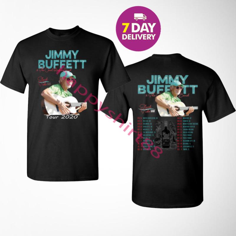 Jimmy Buffett t Shirt Slack Tide Tour 2020 T-Shirt Size S-3XL Men Black.