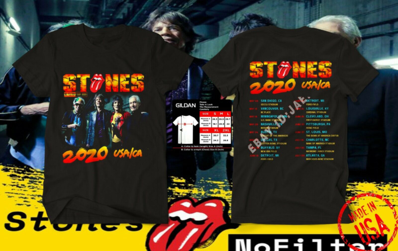 NEW MENS The Rolling Stones T-Shirt No Filter Tour 2020 usa size S-5XL