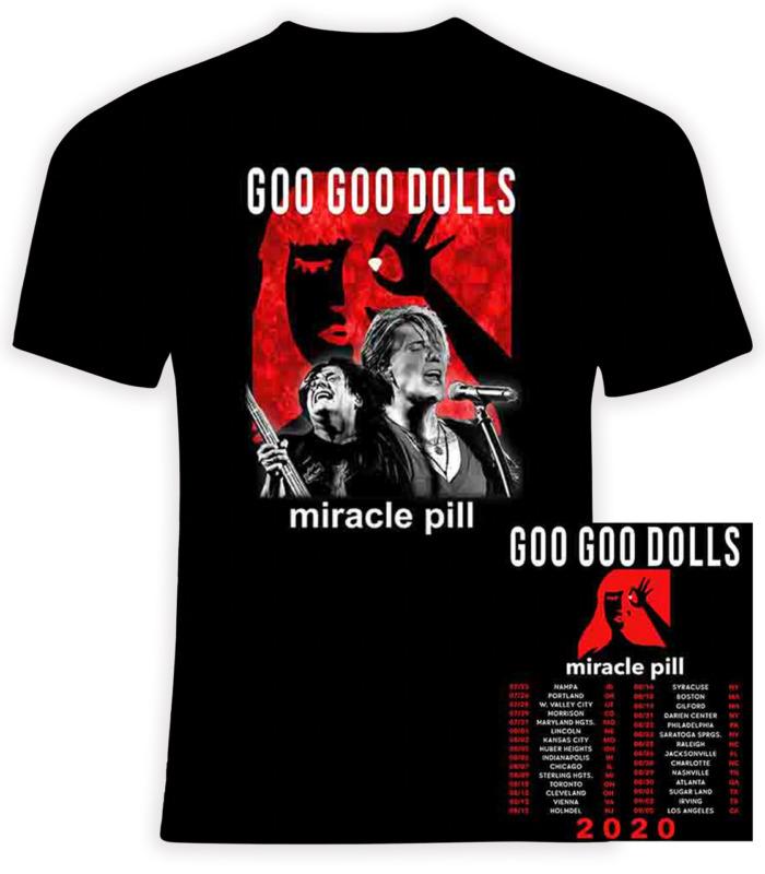 GOO GOO DOLLS 2020 Miracle Pill Concert Tour Gildan Cotton T-Shirt