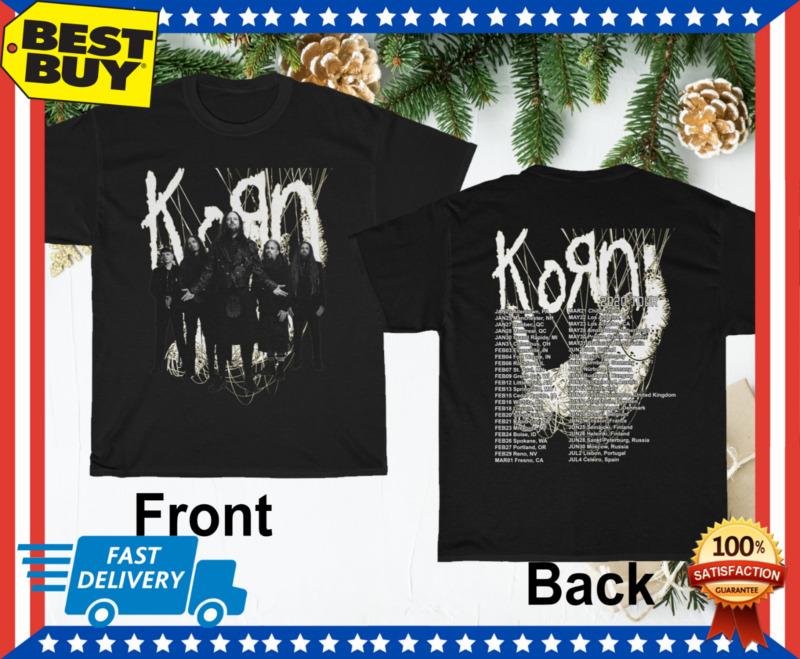 KORN 2020 joint tour Complete Dates Concert T-Shirt Regular Size M-3XL