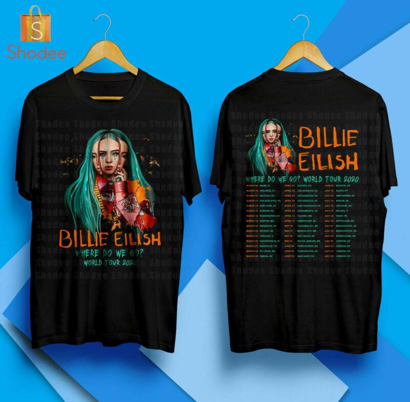 Billie Eilish Where Do We Go World Tour 2020 Concert Merch T-Shirt S-5XL
