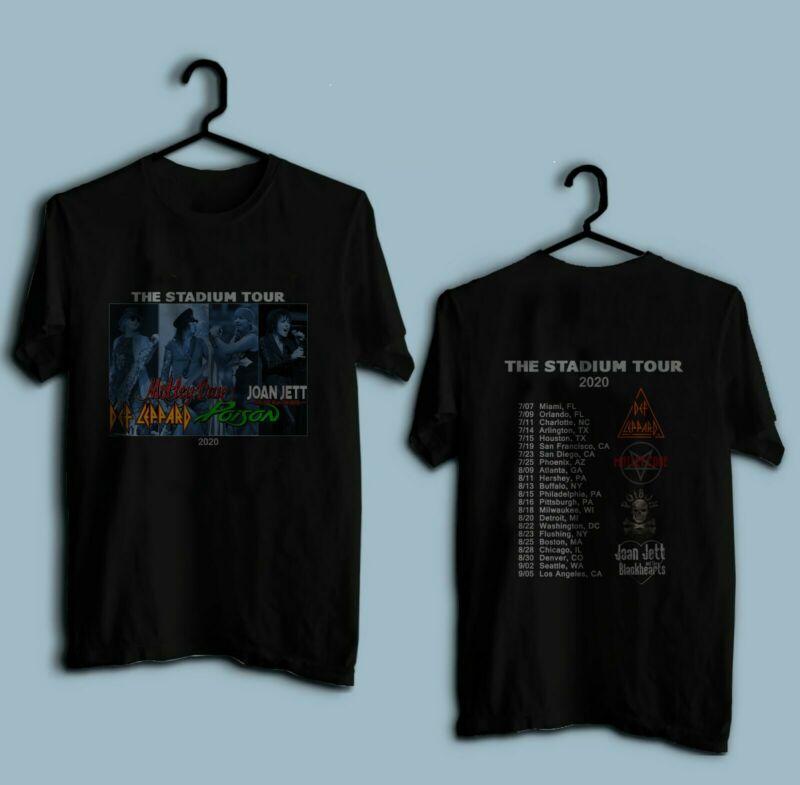 New Motley Crue  Def Leppard  Poison & Joan Jett 2020 Stadium Tour Shirt S-3XL /New-Motley-Crue-Def-Leppard-Poison-Joan-233432253581.html