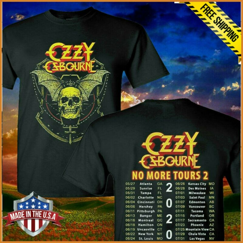 NEW Limited Ozzy Osbourne Megadeth T-Shirt 2020 No More Tours 2 Unisex S-6XL