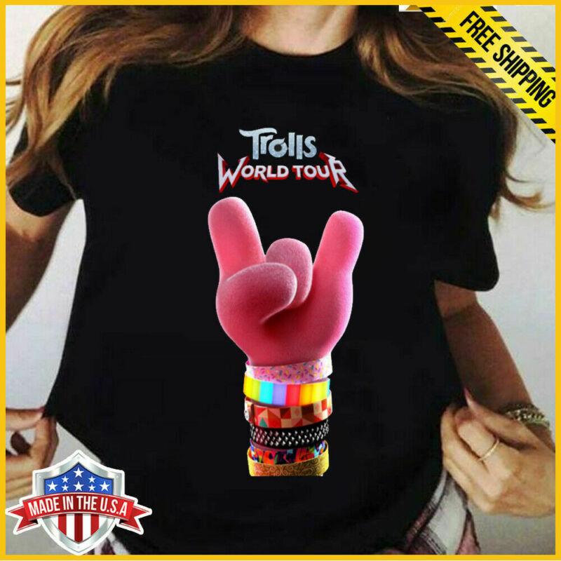 rolls World Tour 2020 T-Shirt Movie Poppy Black Unisex T Shirt