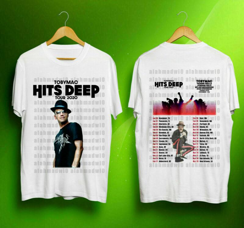 Rare Toby Mac HITS DEEP Tour 2020 w Tour Dates T Shirt 2 Sides S-3XL