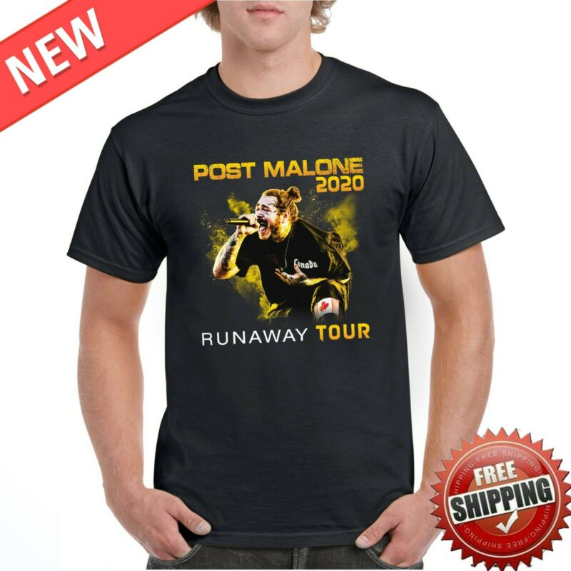 Post Runaway Tour 2020 Malone Hiphop T-Shirt Malone Rapper Black FREESHIP