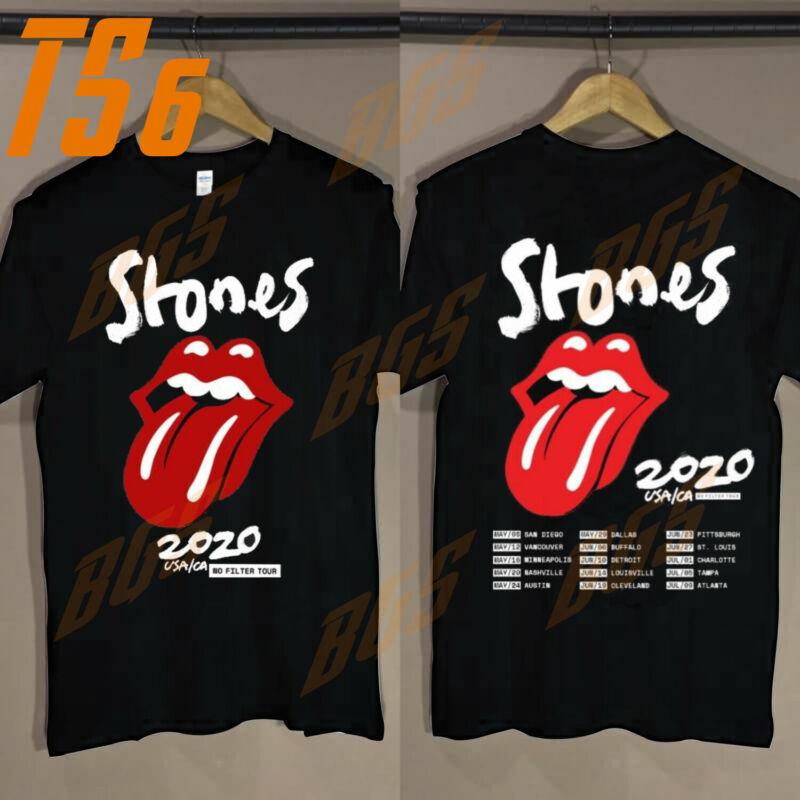 The Rolling Stones USA/CA No Filter Tour 2020 Concert reprint shirt all size USA
