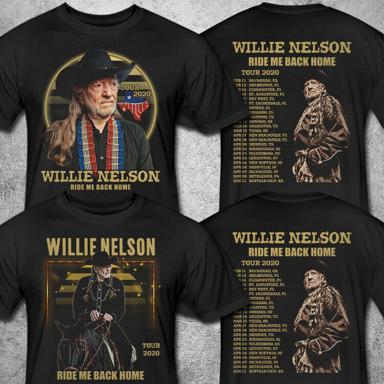 Willie Nelson Ride Me Back Home Tour 2020 T shirt S-3XL MENS